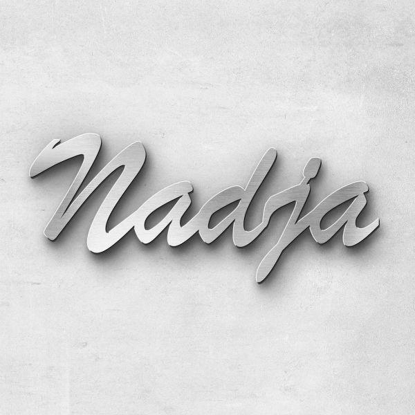 "Schriftzug ""Nadja "", Breite: 10 cm, Schriftart: Scriptic, Befestigung: Selbstklebend"