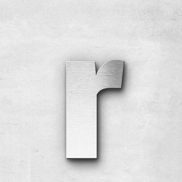 Edelstahlbuchstabe r klein - Serie Sans