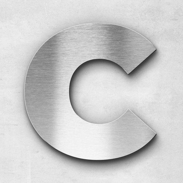 Edelstahlbuchstabe C groß - Serie Kontrast