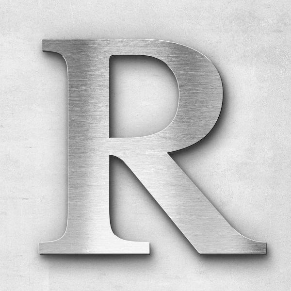 Edelstahlbuchstabe R groß - Serie Serif