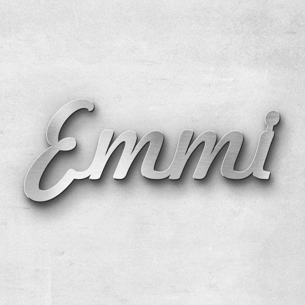 """Schriftzug """"Emmi"""", Breite: 15 cm, Schriftart: Lilly, Befestigung: Selbstklebend"""