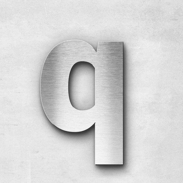 Edelstahlbuchstabe q klein - Serie Sans