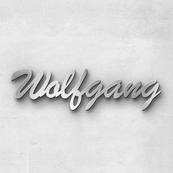 "Schriftzug ""Wolfgang"", Breite: 23 cm, Schriftart: Catdog, Befestigung: Ohne"