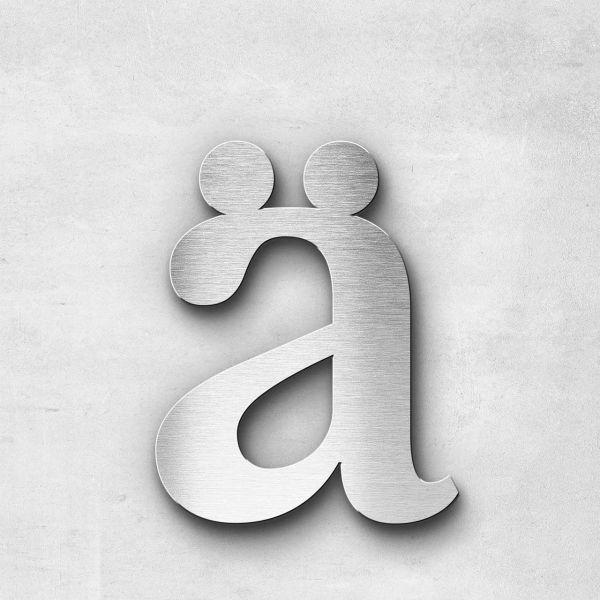 Edelstahlbuchstabe ä klein - Serie Serif