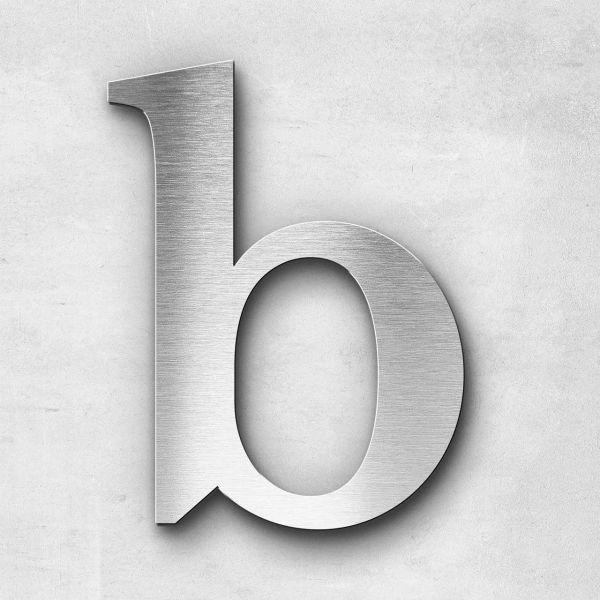 Edelstahlbuchstabe b klein - Serie Serif