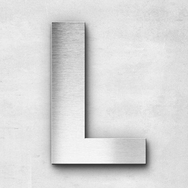 Edelstahlbuchstabe L groß - Serie Sans