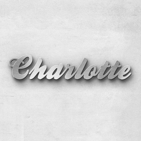 """Schriftzug """"Charlotte"""", Breite: 13 cm, Schriftart: Lilly, Befestigung: Selbstklebend"""
