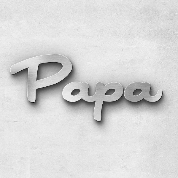 """Schriftzug """"Papa"""", Breite: 12 cm, Schriftart: Lilly, Befestigung: Selbstklebend"""