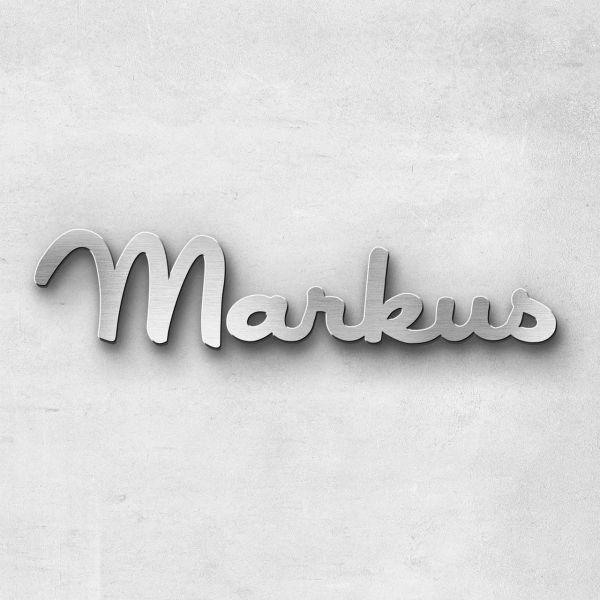 """Schriftzug """"Markus """", Breite: 11 cm, Schriftart: Catdog, Befestigung: Selbstklebend"""