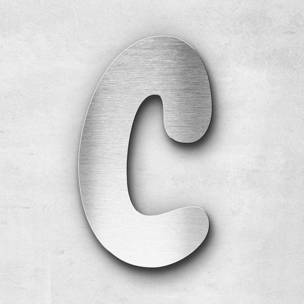 Edelstahlbuchstabe C groß - Serie Darius