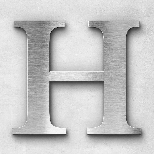 Edelstahlbuchstabe H groß - Serie Serif