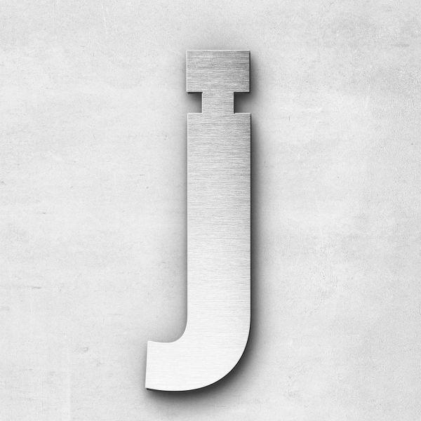 Edelstahlbuchstabe j klein - Serie Sans