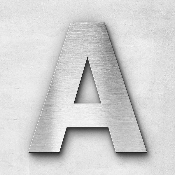 Edelstahlbuchstabe A groß - Serie Sans