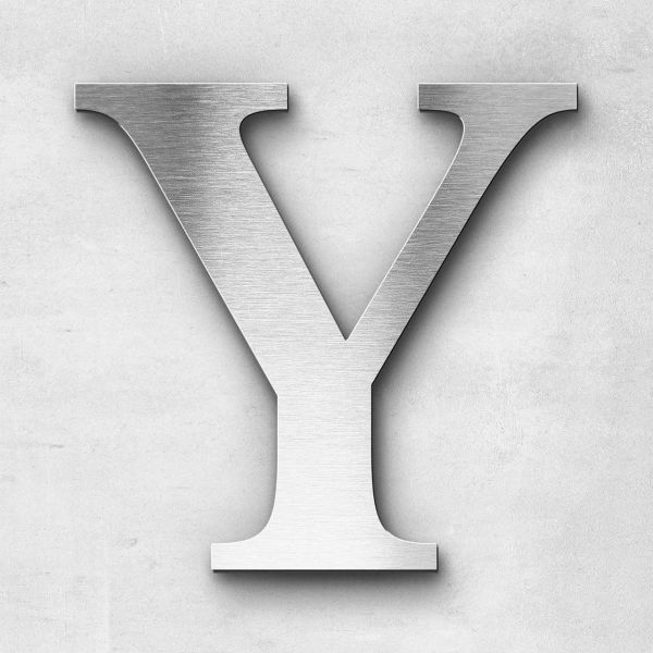 Edelstahlbuchstabe Y groß - Serie Serif