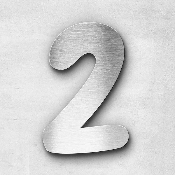 Hausnummer 2 Edelstahl - Serie Darius