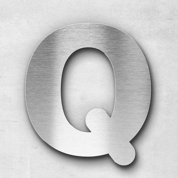 Edelstahlbuchstabe Q groß - Serie Classic