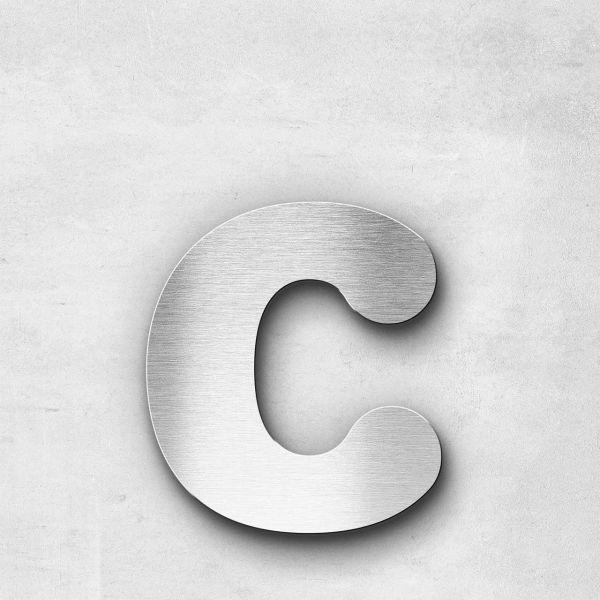 Edelstahlbuchstabe c klein - Serie Classic