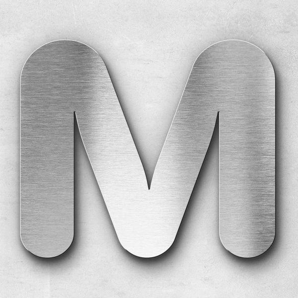 Edelstahlbuchstabe M groß - Serie Classic