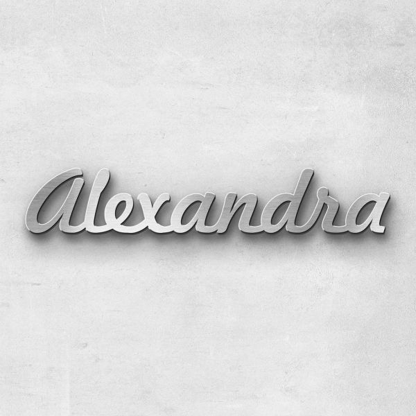 "Schriftzug ""Alexandra"", Breite: 14 cm, Schriftart: Scriptus, Befestigung: Ohne"