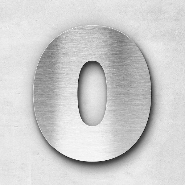 Hausnummer 0 Edelstahl - Serie Kontrast