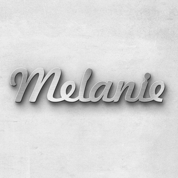 """Schriftzug """"Melanie """", Breite: 14 cm, Schriftart: Capital, Befestigung: Ohne"""