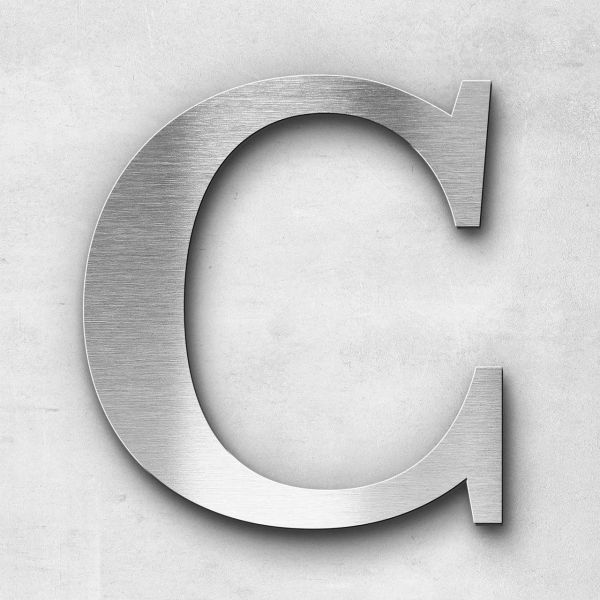 Edelstahlbuchstabe C groß - Serie Serif