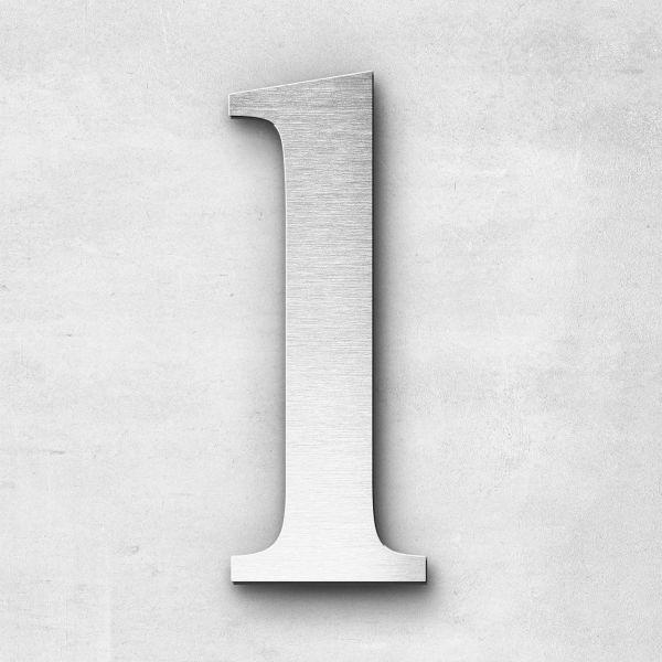 Edelstahlbuchstabe l klein - Serie Serif