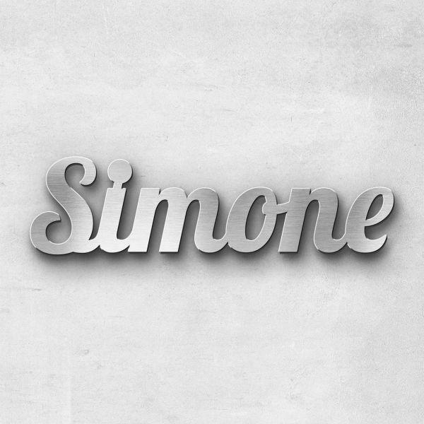 """Schriftzug """"Simone"""", Breite: 11 cm, Schriftart: Lilly, Befestigung: Selbstklebend"""