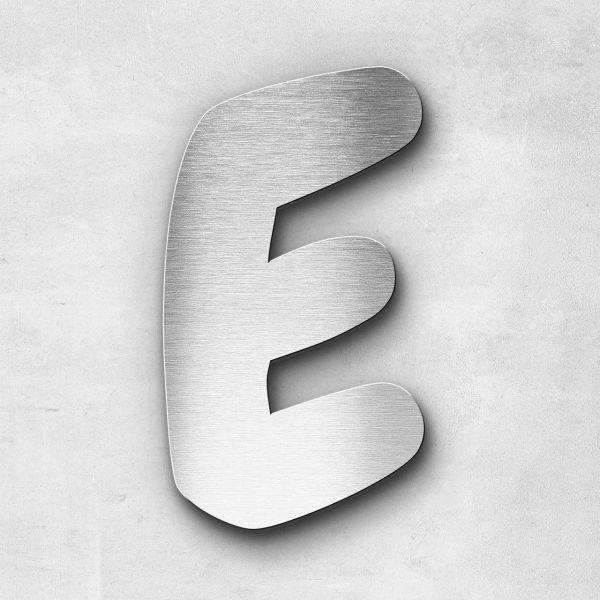 Edelstahlbuchstabe E groß - Serie Darius