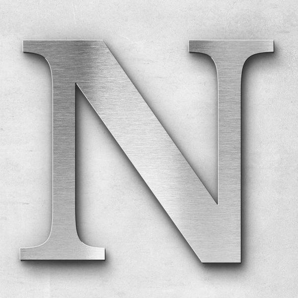 Edelstahlbuchstabe N groß - Serie Serif