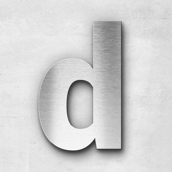 Edelstahlbuchstabe d klein - Serie Sans